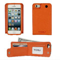 TORU Saffiano Back Flip Wallet Case for iPhone 5