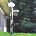 Garden light mail box (Embossed metal pipe - BUMP)
