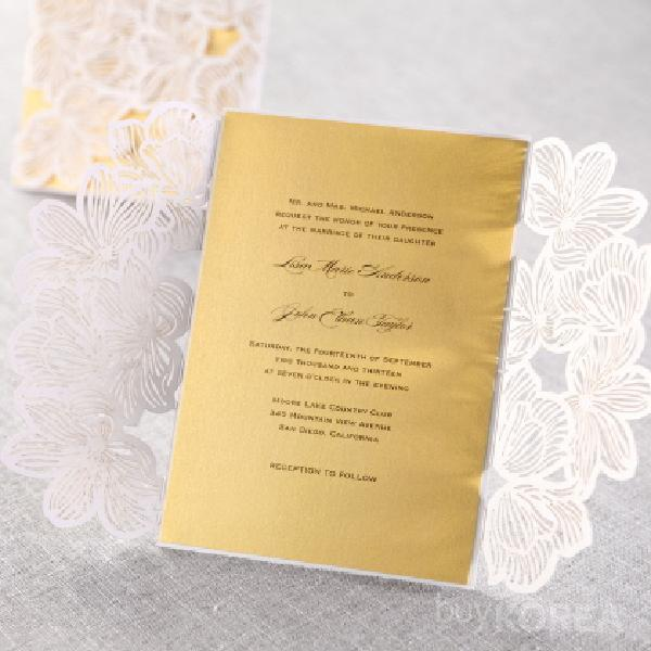 Laser cut wedding invitation card with envelope barunncompany inc laser cut invitation card laser cut invitation card stopboris