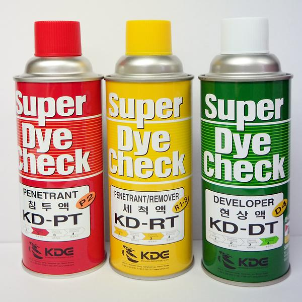 Super Dye Check kit close