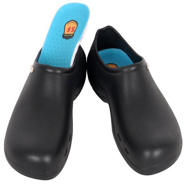 Non Slip Mens And Womens Chef Clog Shoes For Kitchen Bathroom Work Black Moduin