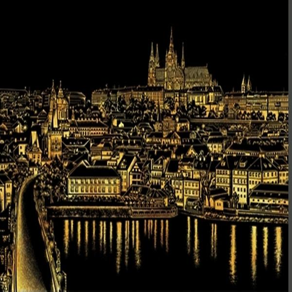 Lago Scratch Book Coloring World City Night View Landscape Series Crevalue