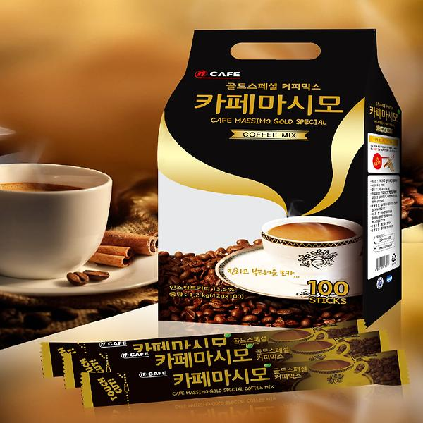 Instant Coffee Mix Ncafe Cafe Massimo Gold Special 100T, CNF KOREA CO., LTD