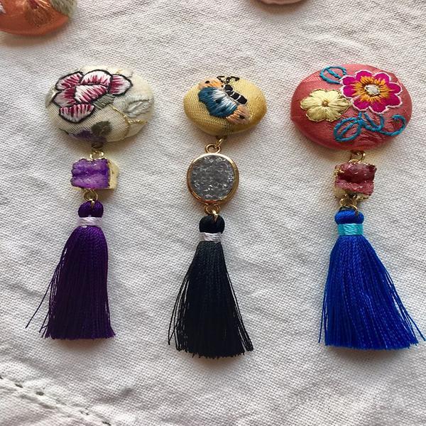 Embroidery Korean Traditional Button Accessories Multi Color Doci