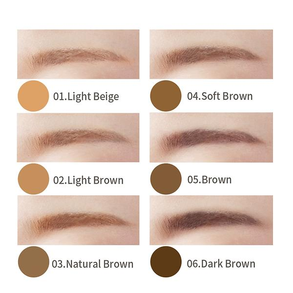 Eyebrow Pencil By Yuki Professional Mineral Powder With Brush And