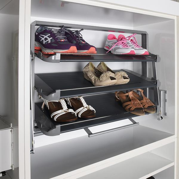 Lift rack for shoes