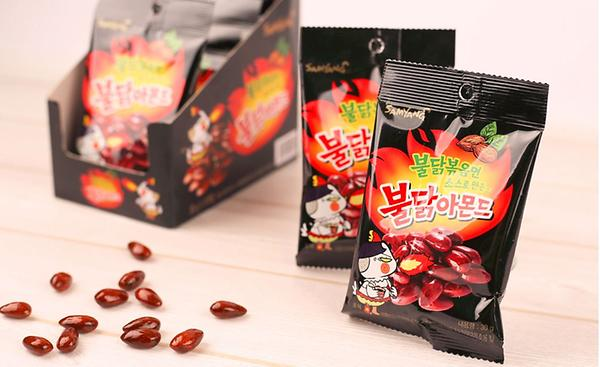 Attractive spicy almonds