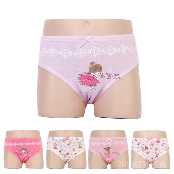 5 pack of girl's brief