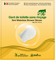 Zeni Waterless Shower Gloves-Pharma Jenistec