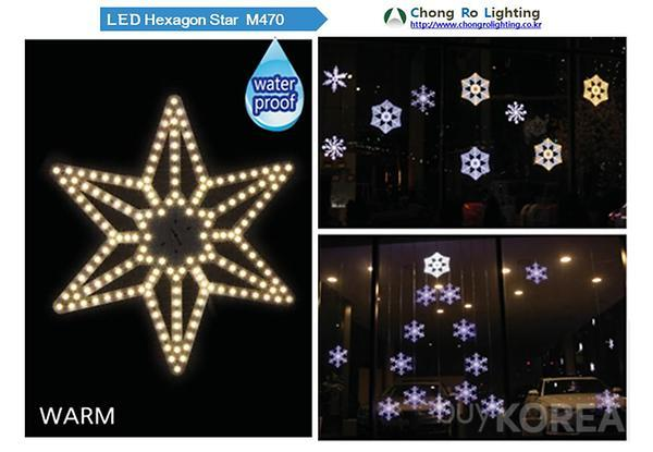 LED Hexagon Star M470
