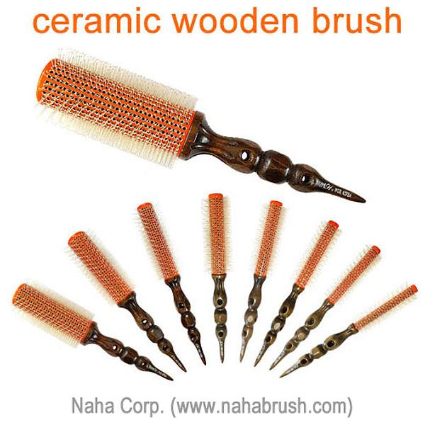 Ceramic Wooden Round Hair