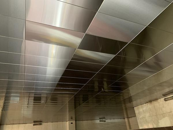 stainless silver ceiling
