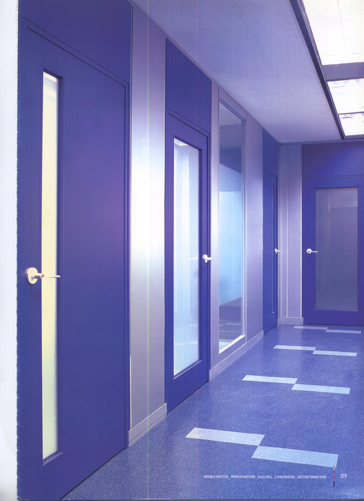 Movable steel sheel partition, SGP partition, Sliding wall, Folding ...